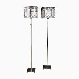 20th-Century Italian Floor Lamps from Fornasetti, Set of 2