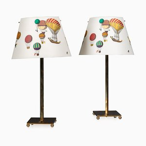 20th-Century Italian Side Lamps from Fornasetti, Set of 2
