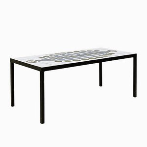 Mid-Century French Tile Coffee Table, 1960s