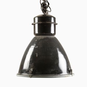 Czech Industrial Steel Pendant Lamp, 1960s