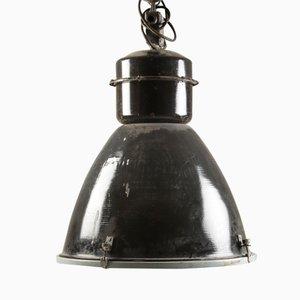 Czech Industrial Steel Pendant Lamp, 1960s