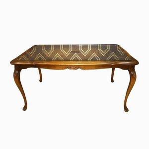Table Basse Style Chippendale en Verre, 1960s