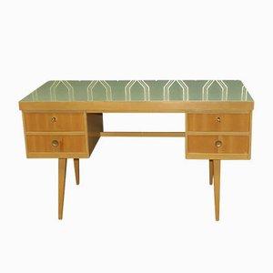 Pastellgrüner Schreibtisch, 1950er