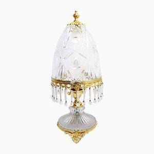 Italian Crystal Table Lamp, 1970s