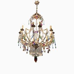 Großer Murano Glas Kronleuchter mit 12 Leuchten