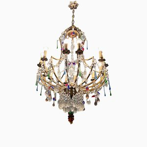 Large Murano Fruit Glass Chandelier with 12 Lights