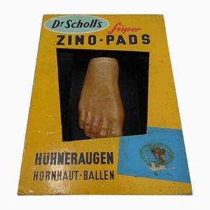 Illuminated Dr Scholl's Zino-Pads, Germany, 1940s