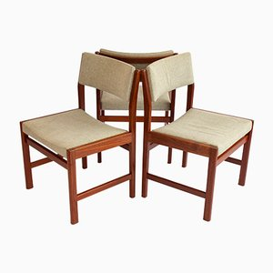 Danish Teak Chairs by Kurt Ostervig for Kp Møbler, Set of 3
