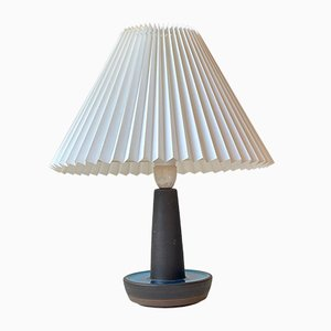 Ceramic Turquoise Table Lamp by Einar Johansen for Søholm, 1960s