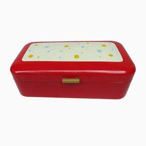 Enamelled Red Bread Box, 1940s