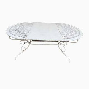 Oval Wrought Iron Table