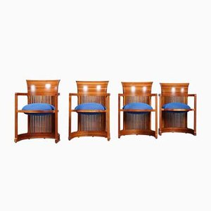 606 Barrel Chairs by Frank Lloyd Wright for Cassina, Set of 4