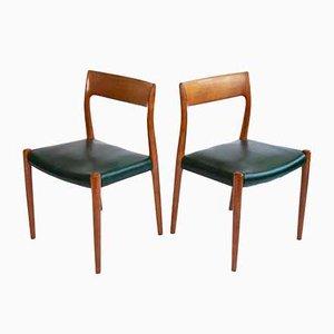 Dänische Vintage Stühle von Niels Møller für JL Møllers, 1960er, 2er Set