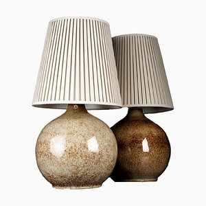 Stoneware Table Lamps by Carl-Harry Stålhane for Adesignstudio, 1950s, Set of 2