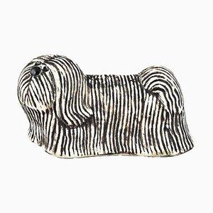 Skye Terrier aus glasierter Keramik von Lisa Larson für K-Studion & Gustavsberg
