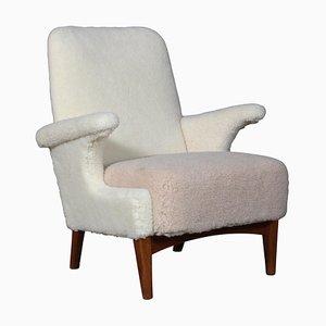Lounge Chair Lambwool from Fritz Hansen, 1950s