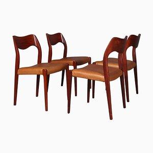 Esszimmerstühle von NO Møller, 4er Set