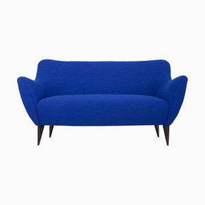 Blaues 2-Sitzer Sofa von Giulia Veronesi für ISA Bergamo, Italien, 1950er