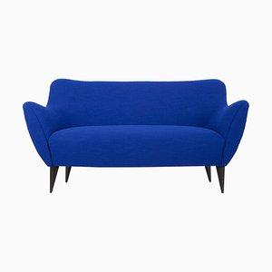 Canapé 2 Places Bleu par Giulia Veronesi pour ISA Bergamo, Italie, 1950s