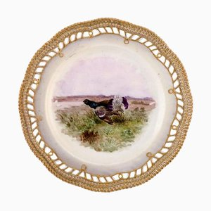 Fauna Danica Plate in Hand-Painted Porcelain from Royal Copenhagen