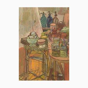 Naomi Vicas B., 1920, Gouache on Paper, Still Life