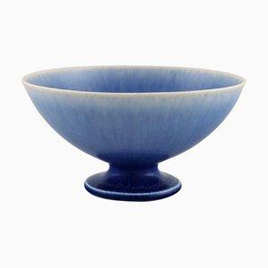 Schale aus glasierter Keramik von Sven Wejsfelt für Gustavsberg Studiohand