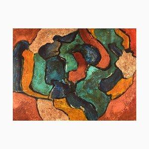 Italian Oil on Board, Consacra, Abstract Composition, 1984