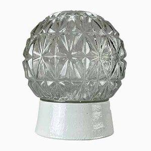 Ceramic & Glass Wall Lamp, 1950s