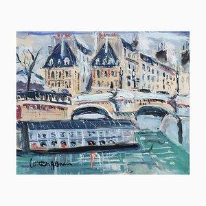 Le Pont Neuf Paris by Lucien Genin, 1930s