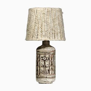 French Ceramic Table Lamp by Jean Derval for Atelier de Mûrier, 1960s