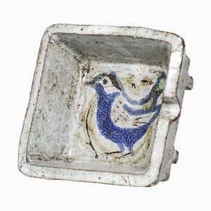 Französischer Aschenbecher aus Keramik von Jean Derval, 1950er