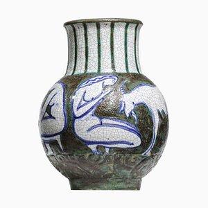 Vase en Céramique par Edouard Cazaux, 1950s