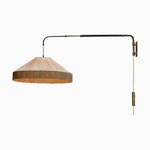 Italienische Wandlampe mit Seidenschirm von Gino Sarfatti für Arredoluce, 1960er