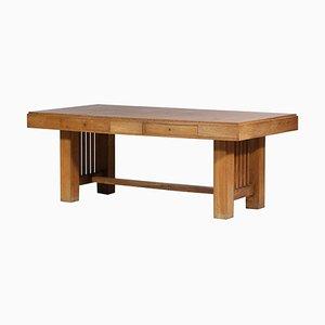 Modernist Desk in Solid Oak, 1960s