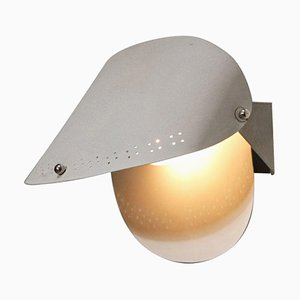 Swedish Grey Metal Lacquered Wall Lamp by Charlotte Perriand, 1970s