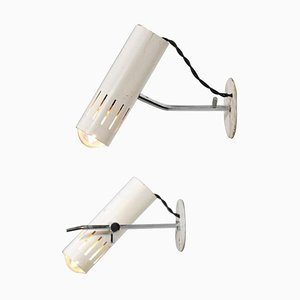 Vintage French Metal Sconces by Alain Richard, 1960s, Set of 2