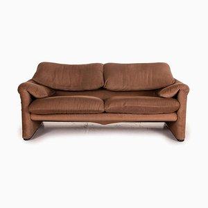 Maralunga 2-Sitzer Sofa in Braun von Cassina