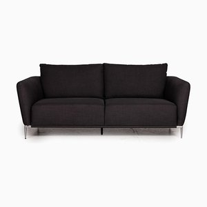 Anthracite Fabric 2-Seater Sofa from Ewald Schillig