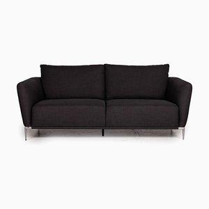 Canapé 2 Places en Tissu Anthracite de Ewald Schillig