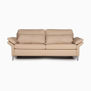 3300 Cream Leather 3-Seater Sofa from Rolf Benz