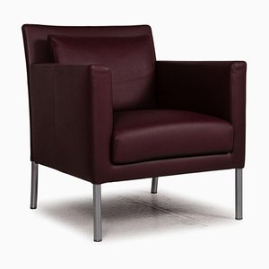 Jason Dark Red Leather Chair from Walter Knoll / Wilhelm Knoll