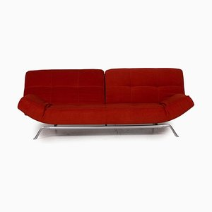 Smala Red Fabric 3-Seater Sofa from Ligne Roset