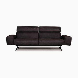 Monroe Grey Leather 3-Seater Sofa from Koinor