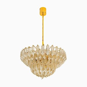Large Six-Tier Crystal Chandelier from Mazzega, 1960s