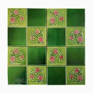 Glazed Relief Tile from Gilliot Frères, Hemiksem, 1920s