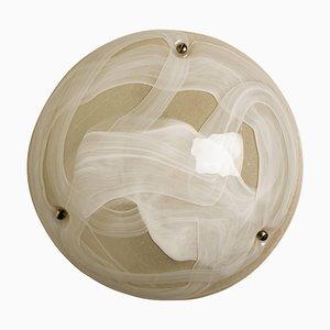 Mundgeblasene Murano Glas Wand- oder Deckenlampe, 1965