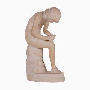Stachelige Skulptur aus Alabaster