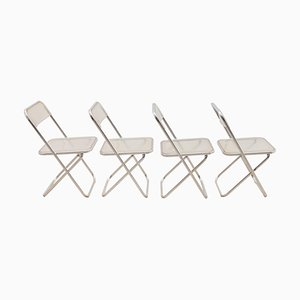Lucite Plia Chairs by Giancarlo Piretti for Castelli, 1960s, Set of 4