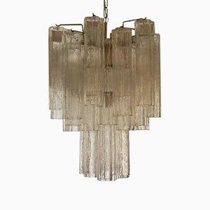 Murano Glas Kronleuchter mit Röhrenprismen