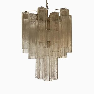 Murano Glass Chandelier with Tubular Prisms